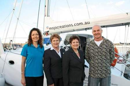 Jo Wooler, Cr Rae Frawley, Lillian van Listenburg MP and Drew Wooler